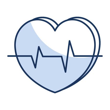 심장 심장학 절연 아이콘 벡터 일러스트 디자인 스톡 콘텐츠 - 81674749