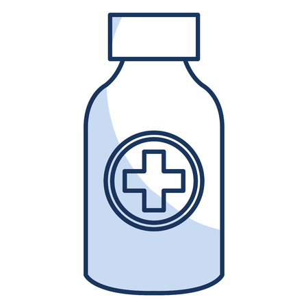 medical drawing: bottle drugs isolated icon vector illustration design