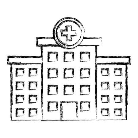 병원 건물 격리 된 아이콘 벡터 일러스트 디자인 일러스트