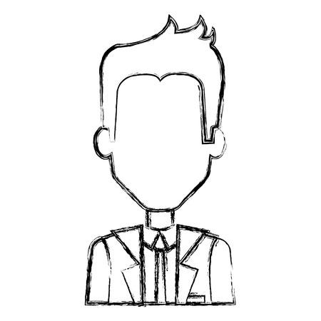 Homme d'affaires avatar caractère icône illustration vectorielle design Banque d'images - 81674814