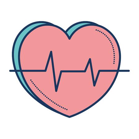 심장 심장학 절연 아이콘 벡터 일러스트 디자인 스톡 콘텐츠 - 81674639