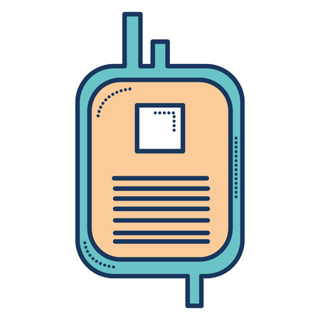 donate blood bag isolated icon vector illustration design Stock fotó - 81675095