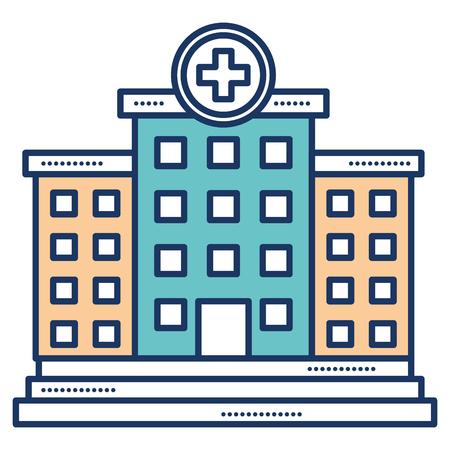 Bâtiment de l'hôpital icône isolé illustration vectorielle conception Banque d'images - 81675101