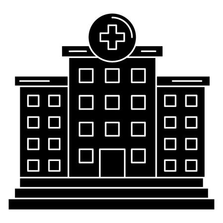 Construction de l'hôpital isolé icône vector illustration design Banque d'images - 81675115