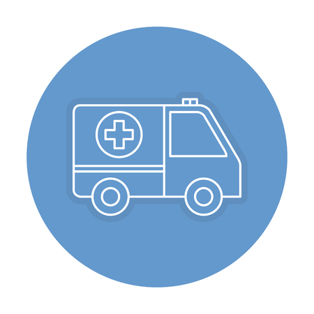 ambulance car isolated icon vector illustration design Stock Vector - 81675222