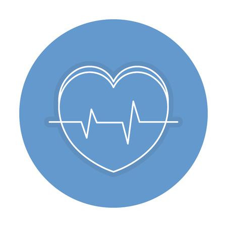 心臓循環器分離アイコン ベクトル イラスト デザイン