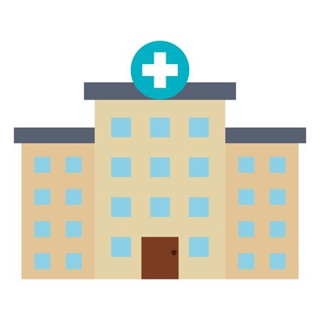 病院の建物の分離のアイコン ベクトル イラスト デザイン