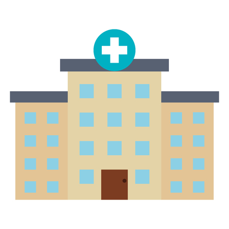 hospital building isolated icon vector illustration design 向量圖像