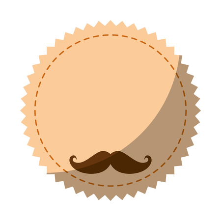 seal stamp with mustache icon vector illustration graphic design Фото со стока - 81726109