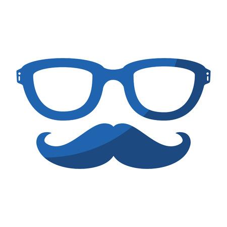 Vintage male mustache icon vector illustration graphic design