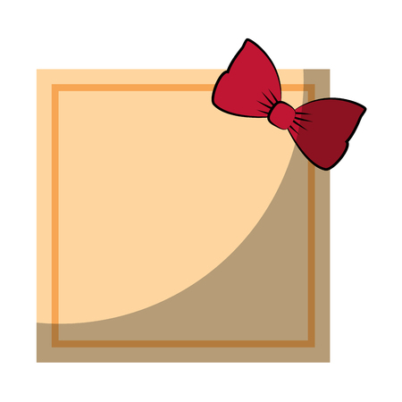 Frame with bow icon vector illustration graphic design Stock Vector - 81725064