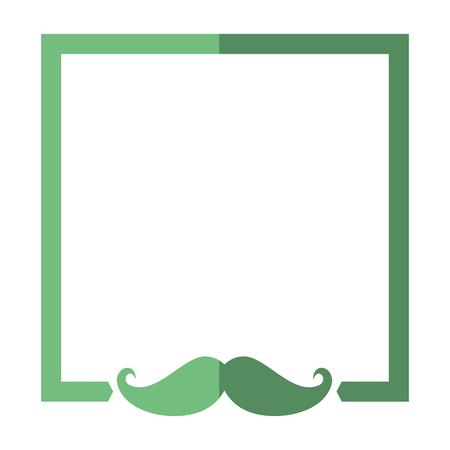 frame mustache decorative icon vector illustration graphic design Çizim