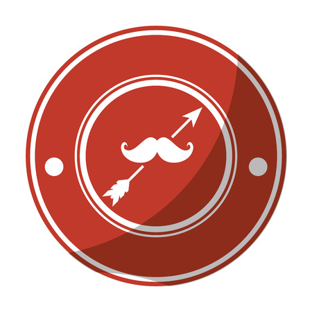 Seal stamp with mustache icon vector illustration graphic design
