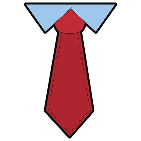Tie male fashion icon vector illustration graphic design