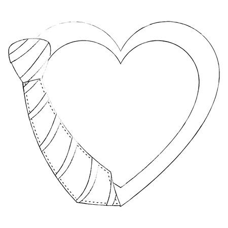 Decorative heart symbol icon vector illustration graphic design Illustration