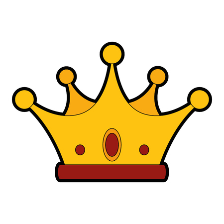Luxury king crown icon vector illustration graphic design