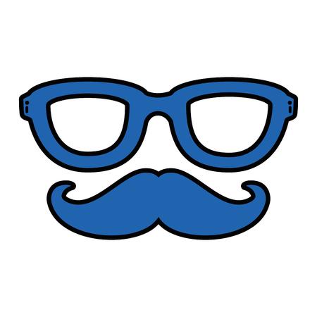 ヴィンテージ男性口ひげアイコン ベクトル イラスト グラフィック デザイン