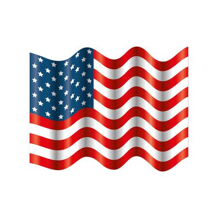 United states flag icon vector illustration graphic design