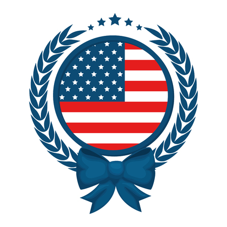 seal stamp with usa country flag icon vector illustration graphic design Illustration