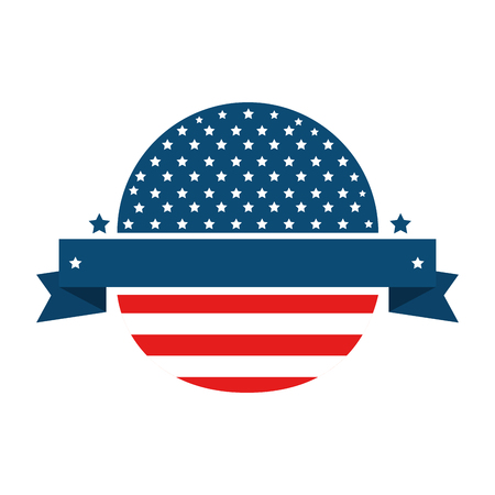 seal stamp with usa country flag icon vector illustration graphic design Ilustração