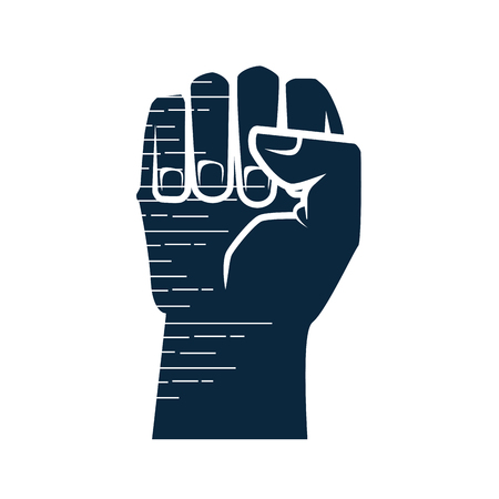 Hand clenched symbol icon vector illustration graphic design