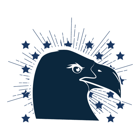 American eagle symbol icon vector illustration graphic design Illustration