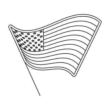 Unites states flag icon vector illustration graphic design Ilustrace
