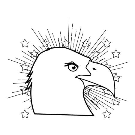 Amerikaanse adelaar symbool pictogram vector illustratie grafisch ontwerp