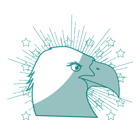 eagle bird icon over white background vector illustration