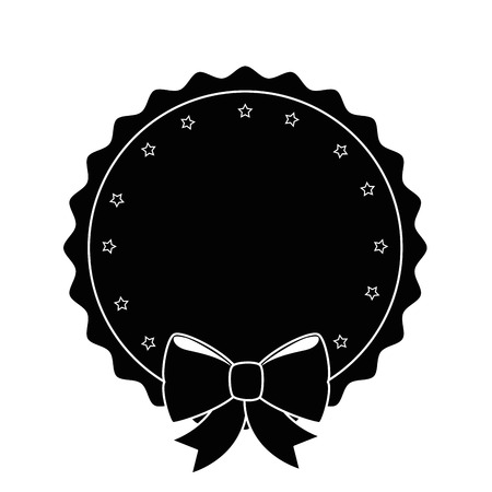 seal stamp with decorative bow icon over white background vector illustration Stock Vector - 81724847