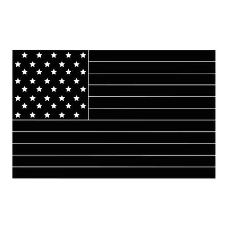 흰색 배경 벡터 일러스트 레이 션을 통해 미국 국기 아이콘 일러스트