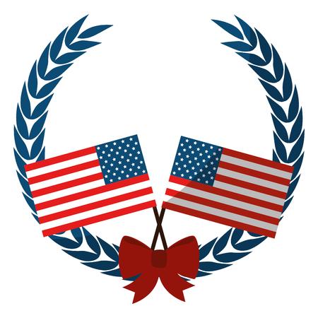 Unites states flag icon vector illustration graphic design Illustration