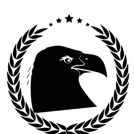 白背景ベクトル イラスト上の鷲鳥アイコン