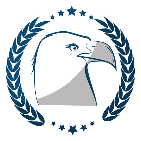 American eagle symbol icon vector illustration graphic design Imagens - 81725440