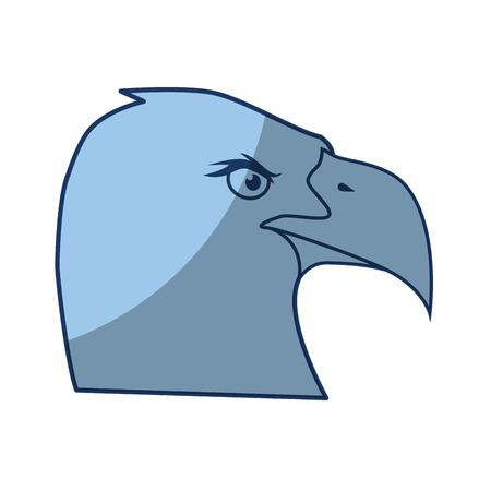 eagle bird icon over white background vector illustration