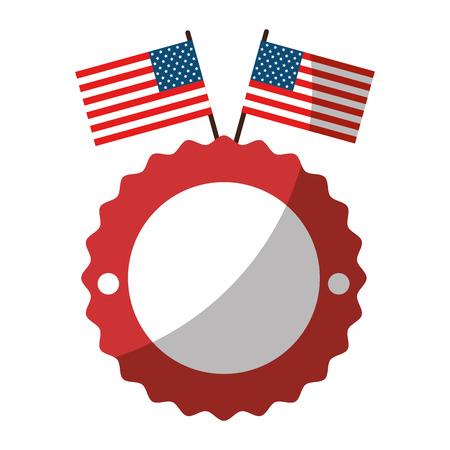 미국 국기 아이콘 벡터 일러스트 레이 션 그래픽 디자인 인감 스탬프 일러스트