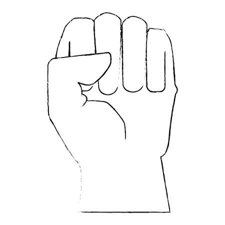 手 clenched シンボル アイコン ベクトル イラスト グラフィック デザイン  イラスト・ベクター素材