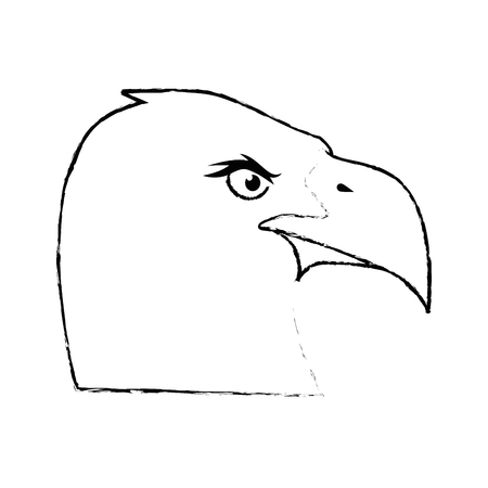 아메리칸 이글 기호 아이콘 벡터 일러스트 그래픽 디자인