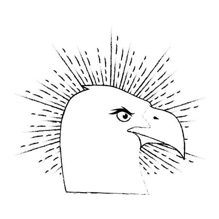 American eagle symbol icon vector illustration graphic design Çizim