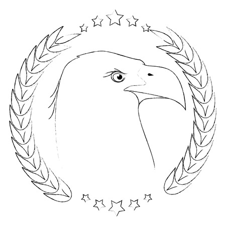 American eagle symbol icon vector illustration graphic design Ilustração