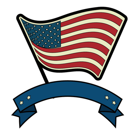 미국 국기 아이콘 벡터 일러스트 레이 션 그래픽 디자인 일러스트