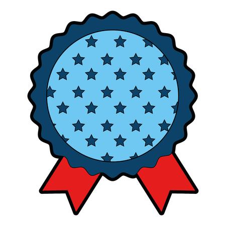 quality guarantee: Award ribbon blank icon vector illustration graphic design