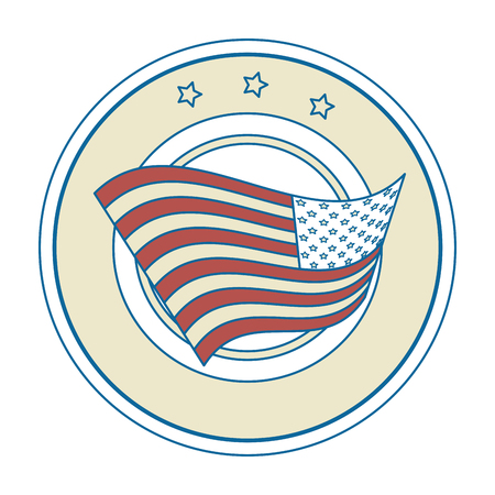 seal stamp with usa country flag icon vector illustration graphic design Ilustrace