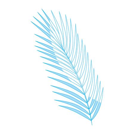 Leaves palm plant icon vector illustration graphic design Иллюстрация