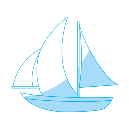 Sailboat ship isolated icon vector illustration graphic design