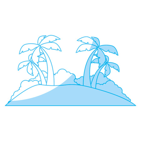 Island tree palms icon vector illustration graphic design Stock fotó - 81727739