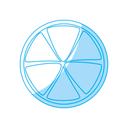 Lemon slice isolated icon vector illustration graphic design Illustration
