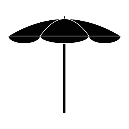 Beach umbrella isolated icon vector illustration graphic design