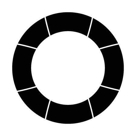 Nautische Leben Ring Icon Vektor-Illustration Grafik-Design Standard-Bild - 81727678