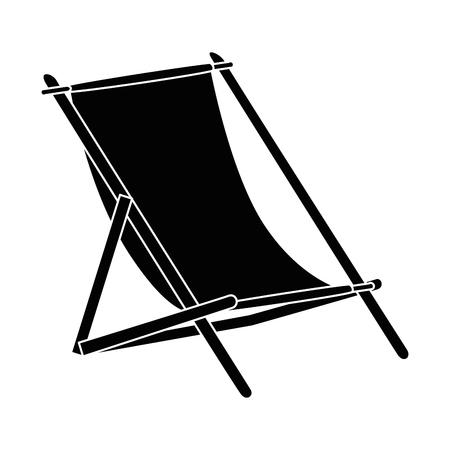 Sun chair isolated icon vector illustration graphic design Ilustração